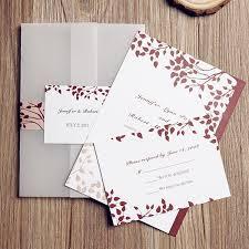 Fall Tree Country Rustic Pocket Wedding Invites EWPI087 As Low