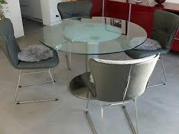 designer esstisch ronald k765 e glastisch rund 120cm