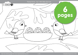 Treetop Family Coloring Pages Episode 1