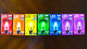 colored led light bulbs hommum