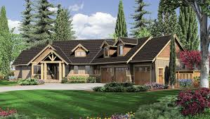 Large One Story Homes by Home Design One Story Craftsman House Plans Midcentury Expansive