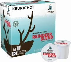 Caribou Coffee Reindeer Blend K Cup Pods 16 Pack