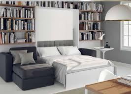 canap avec biblioth que int gr e armoire lit à ouverture assistée traccia canapé intégré et