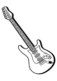 Printable Coloring Pages Guitar To Print Coloringstar
