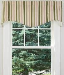 moire stripe scalloped valance country curtains kitchen