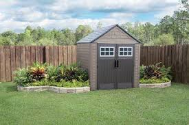 Rubbermaid Roughneck Gable Storage Shed 7x7 by Shop Rubbermaid Roughneck Storage Shed Common 5 Ft X 6 Ft