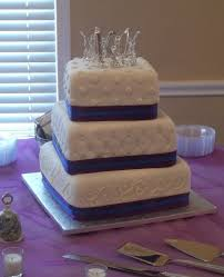 Royal Purple And Royal Blue Wedding Cake CakeCentral