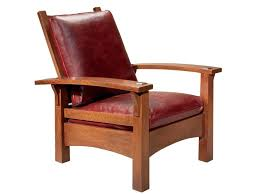 Stickley Audi Leather Sofa by Stickley Oak Mission Classics Gustav Bow Arm Morris Chair