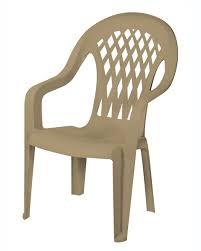 100 Kangaroo High Chair Gracious Living Lattice Back Sandstone Shop Your Way