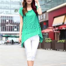 Green Color Short Sleeve Top Shirt