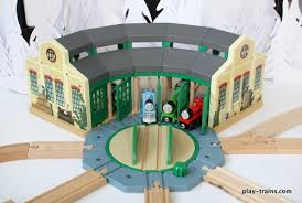 wooden train roundhouses and engine sheds the play trains