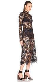 kate sylvester pola dress in black lace fwrd