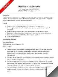 Teachers Aide Resume Assis Cover Letter Examples For Teacher Assistant