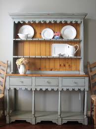Shabby Chic Dining Room Hutch by European Paint Finishes Farmhouse Hutch