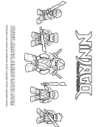 5 Ninjago Ninjas In Kimono Coloring Page