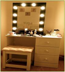 dressing table makeup mirror with lights home design ideas