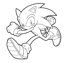 Sonic Runs Coloring Pages For Kids Printable Free