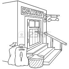 Bakery Black And White Cartoon Illustration Vector Royalty Free Cliparts Vectors And Stock Illustration Image