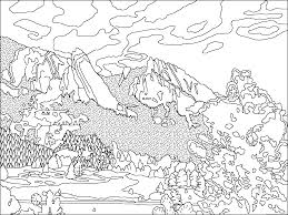 Colorado Mountain Range Coloring Page Flatirons Boulder