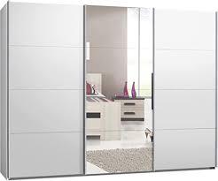 schwebetürenschrank kleiderschrank sofort lieferbar ca 300 cm weiss mit spiegel schiebetürenschrank