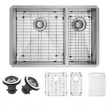 vigo undermount stainless steel 29 in double bowl kitchen sink in