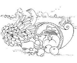 Coloring Page Thanksgiving Meal Sheet