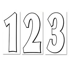 Numbers White Black