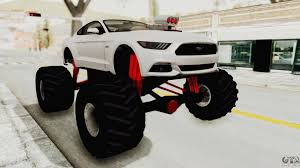 Ford Mustang GT 2015 Monster Truck For GTA San Andreas Radio Shack Zip Zaps Micor Rc Cars Spiderman Monster Truck Mustang Ford King Cobra 1978 Gta San Andreas Crazy 2 Mustang Monster Truck Wning Mach 1 Mp Races In Bigfoot No1 Original Rtr 110 2wd By Traxxas Shelby Gt500 Monster Truck For Spin Tires Maverick Ion Mt Wild Stang Trucks Wiki Fandom Powered Wikia Shelby Mustang Summit 4wd Blue Tra560764blue Hpi Baja 5r 1970 Boss Asphalt
