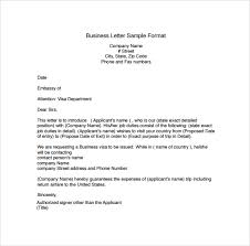 Sample Business Letter Format Template Business Proposal Templates