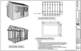8x10 Shed Plans Materials List by Mig Free 10 X12 Shed Plans And Material Lists For Storage