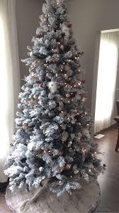 Flocked Christmas Tree Decorating Ideas Best Winter Wonderland