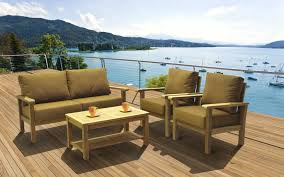 Cast Aluminum Patio Furniture With Sunbrella Cushions by 305 Design Center Teak Indonesian Patio And Outdoor Furniture