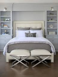 Small Transitional Master Cork Floor Bedroom Photo In Chicago With Gray Walls