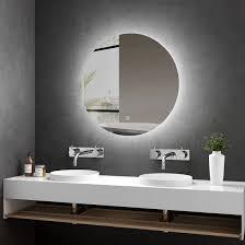dekoration rund badspiegel wandspiegel badezimmerspiegel mit