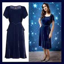 isabella dress in celeste blue silk velvet by nancy mac