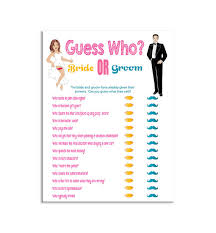 Guess Who Shower Game Bridal Bride And Groom Pink Yellow Teal Instant Download Couples