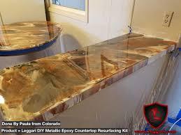 Bath Resurfacing Kits Diy by Countertop Resurfacing Made Easy With Our Diy Metallic Epoxy