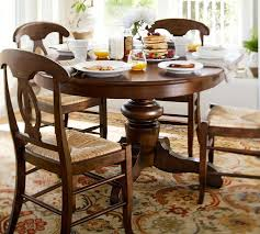 Innovative Dining Room Tables Pottery Barn Tivoli Extending Pedestal Table Napoleon Chair 5 Piece