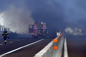 Highway Explosion In Italy Leaves Dozens Injured, 2 Dead | Time Five Die In Ondo Tanker Explosion 3 Dead After Truck Crashes And Explodes Smyth County Tanker Sending Deadly Fireball Across Italy Motorway Oil Tanker Fire Wasatch Fire Why Cant I Find Any European Scs Software Truck Explosion Three Dead 60 Injured After Collapses Fiery Crash Shuts Down I94 Near Troitdearborn Gnville The Daily Gazette Of A On The Highway Montreal Canada Full 2 Men Fuel Kivitvcom Boise Id 105 Freeway Kills Two People Nbc