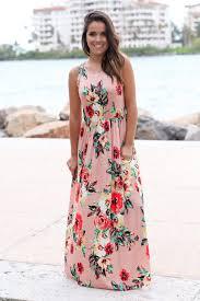 peach floral sleeveless maxi dress cute dresses u2013 saved by the dress