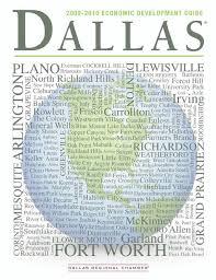 Noble Tile Supply Dallas Tx 75229 by 2009 2010 Dallas Economic Development Guide By Dallas Regional