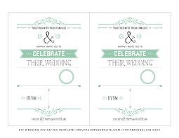 Free Vintage Rustic Diy Wedding Invitation Template Mountainmodernlife Com