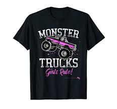 Amazon.com: Monster Trucks Girls Rule T-shirt: Clothing