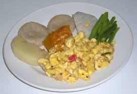 Jamaican Pumpkin Soup Vegan by Yam Cocoa Dumplings Pumpkin Green Beans U0026 Ackee With Saltfish