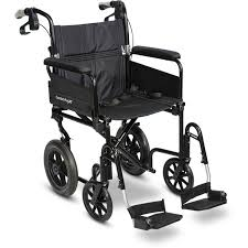 Bariatric Transport Chair 24 Seat by Airgo Comfort Plus Xc Premium Lightweight Transport Chair