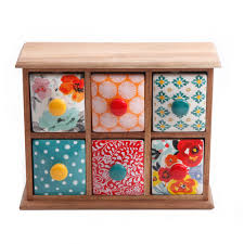 Six Drawer Storage Cabinet by The Pioneer Woman Flea Market 6 Drawer Spice Tea Box Walmart Com