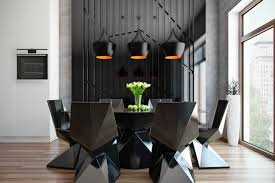 Black Dining Room Light For Latest Decorating Ideas With Luxury Interior And Modern Furniture Colors