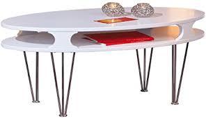 links 50300205 couchtisch weiß matt glastisch wohnzimmertisch wohnzimmer tisch oval modern neu
