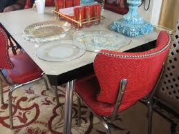 100 Red Formica Table And Chairs C Dianne Zweig Kitsch N Stuff 1950s Chrome S