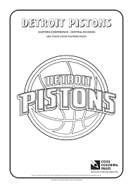 Coloring Pages Teams Logos Pistons Nba Printable Jersey Basketball Player